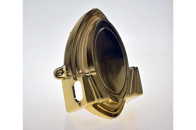 18K Light Gold Coffin Corner Quick Delivery Time Strong Handle For Casket