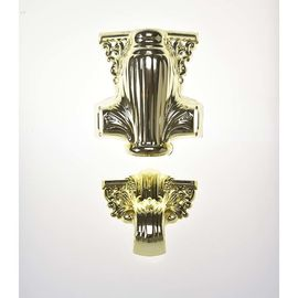 China Plastic Material Coffin Decoration Handles Shiny Gold Color Electronic Plating supplier