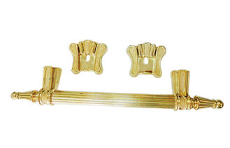 China Golden / Bronze Wholesale Coffin Handles , Coffin Fittings High Durability supplier