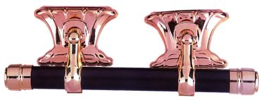 China Light Weight Casket Handle Hardware , Coffin Ornaments Swing Bar Antique Brass factory